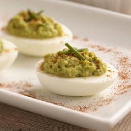 Wholly Guacamole Deviled Eggs