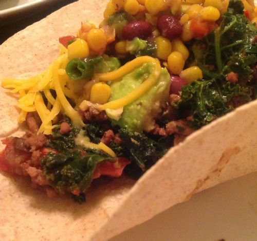 Turkey, Kale, and Black Bean Taco Filling