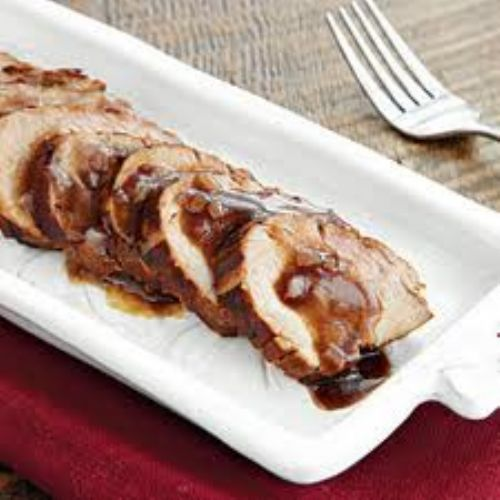 Grilled Pork Tenderloin with Molasses Sauce