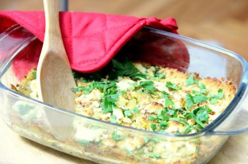 Lentil and Goat Cheese Casserole