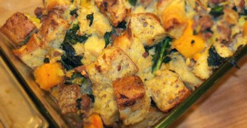 Kale and Butternut Squash Stuffing