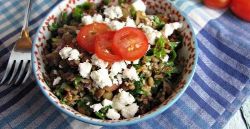 Lentil and Feta Tabbouleh
