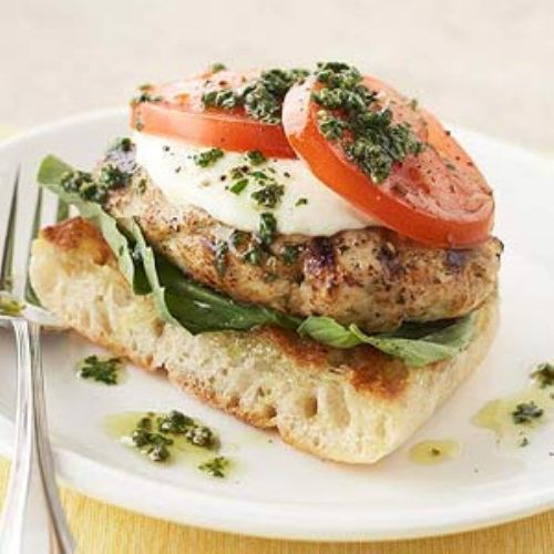 Hamburgers - Pesto Chicken Burgers