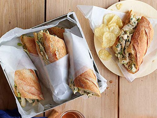 Sandwiches - Roast Chicken Salad Sandwiches