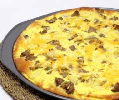 Sauage Breakfast Pizza