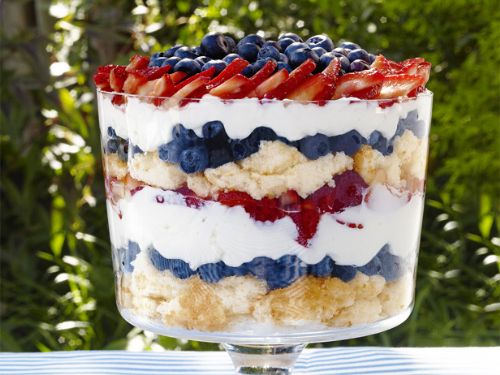 Summer - Patriotic Berry Trifle