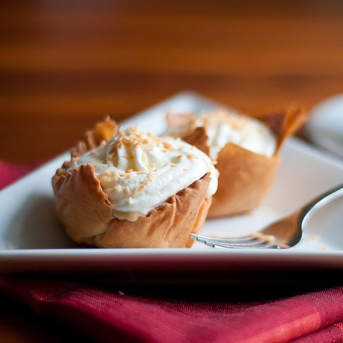 Pumpkin Coconut Cream Tartlets