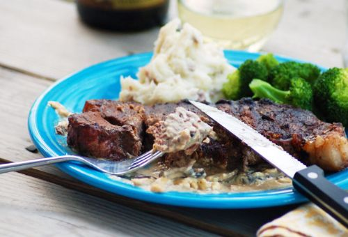 Brown Butter Steak with Blue Cheese Gravy