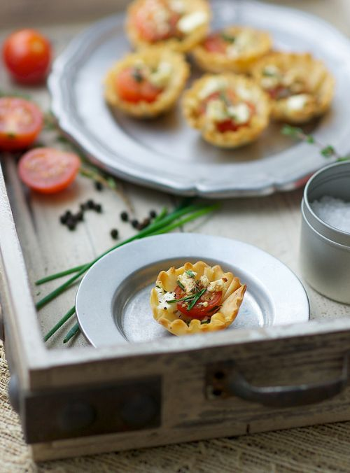Mini Tomato and Feta Tarts