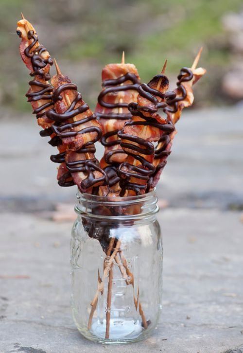 Maple Chocolate Bacon Skewers