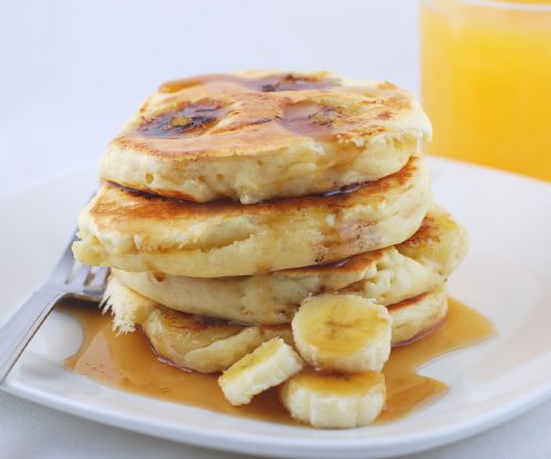 Banana and coconut pancakes