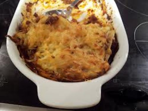 veggie cottage pie with a rosti topping