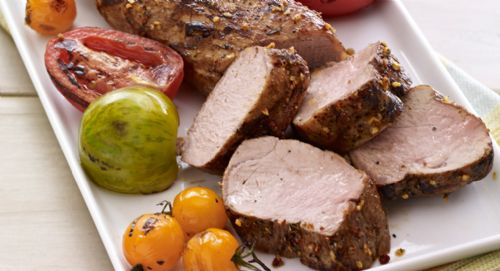 Molasses-Bacon Pork Tenderloin