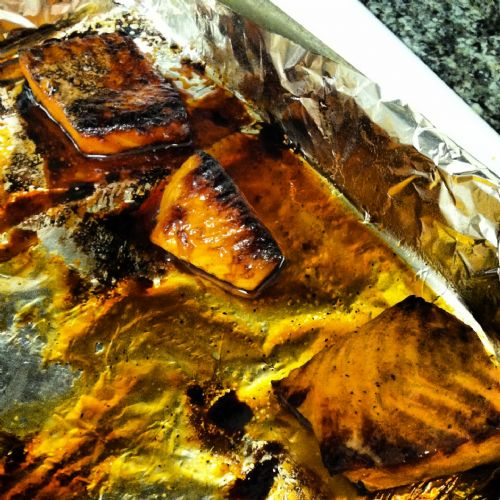 Honey-Soy Marinated Salmon