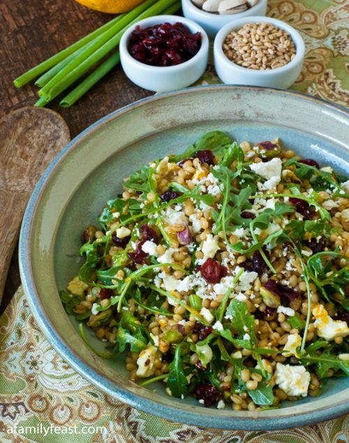 Wheatberry Salad with Cranberries and Feta
