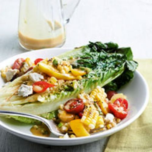 Grilled Romaine, Corn & Tomato Tumble