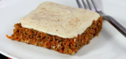 Orange carrot bars