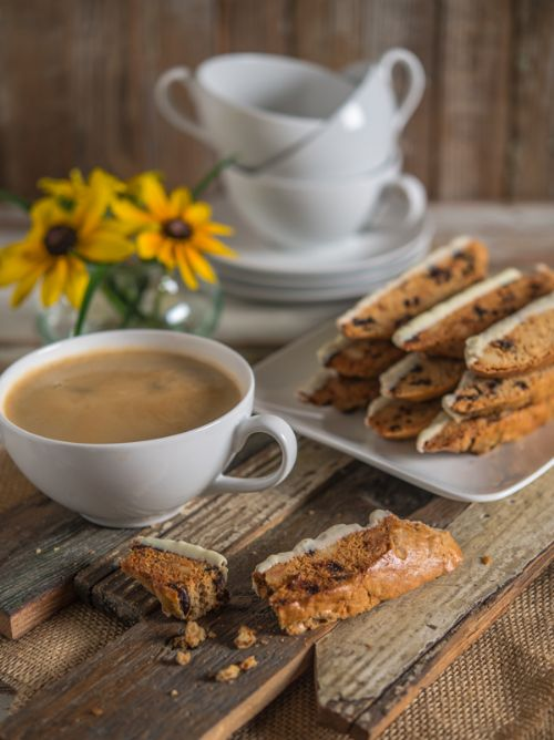Biscotti with Dried Cherries, Macadamia Nuts