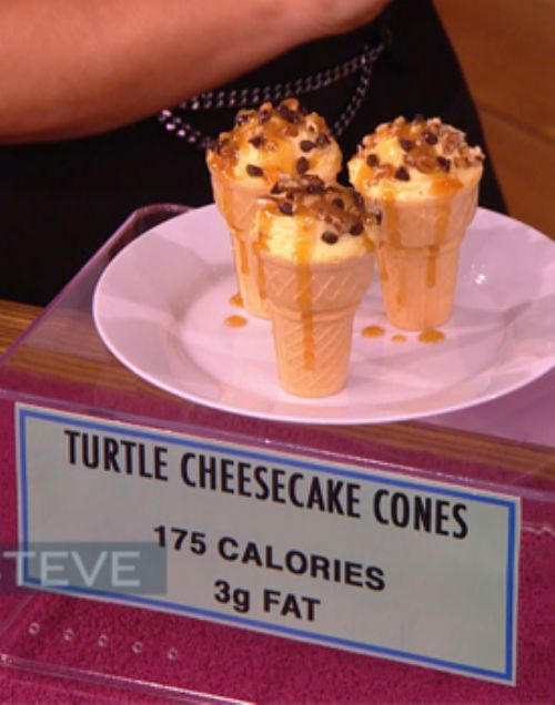Turtle Cheesecake Cones