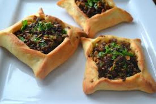 LAMB OPEN-FACE MEAT TURNOVERS ( Sfeeha)