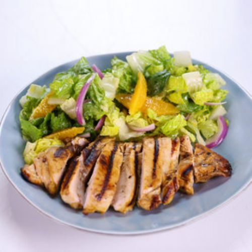 Grilled Orange Chicken and Romaine Salad