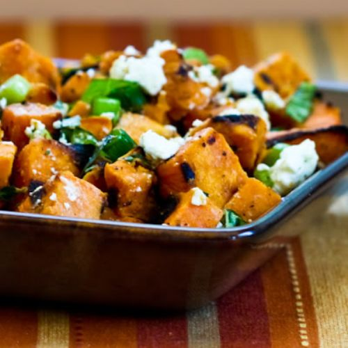 Recipe for Grilled Sweet Potato Salad with Green