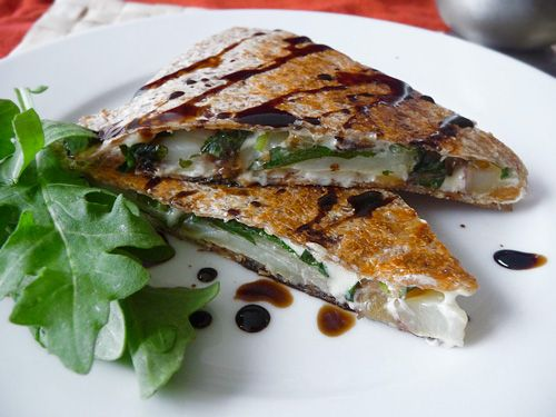 Arugula, Pear & Red Potato Quesadilla with Apple B