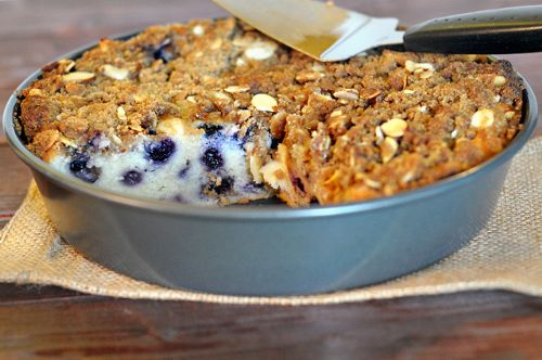 Blueberry Coffee Cake Brown Sugar Almond Streusel