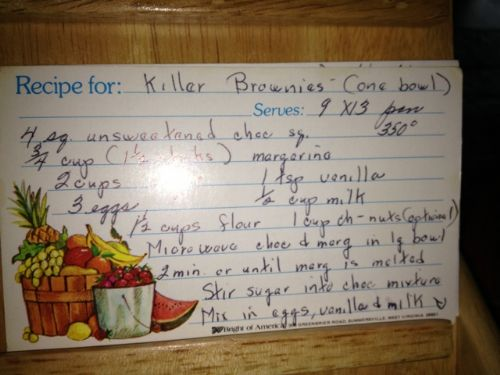 Killer Brownies