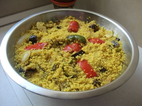 Couscous with Roasted Pepper & Eggplant