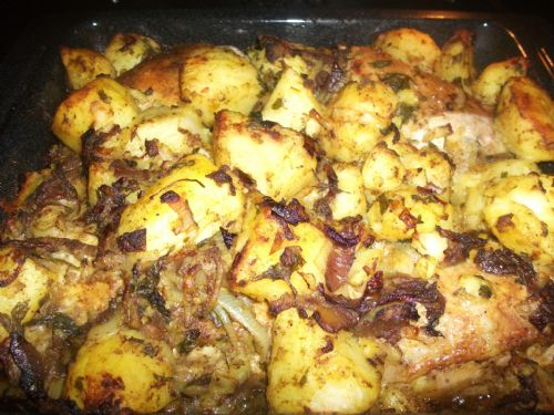 Iraqi Roast Chicken & Potatoes