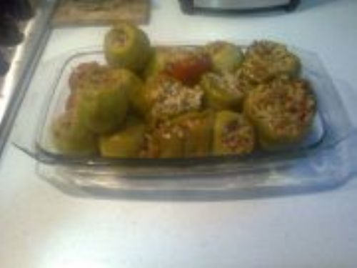 Stuffing for marrows,green peppers,aubergines,toma
