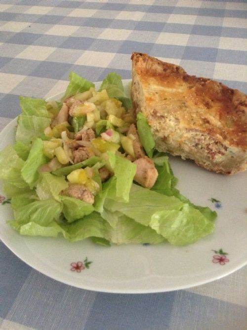 Cheesy Bacon and Mushroom Quiche