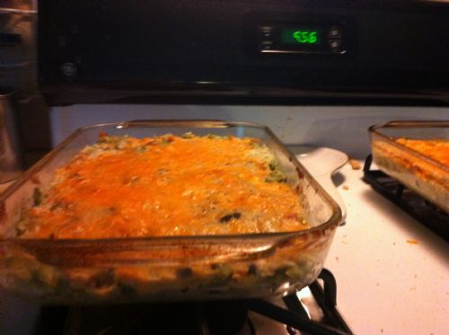 Impossibly Easy Cheesy Chicken Rice Casserole