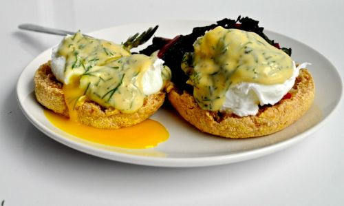 Poached Eggs with Dill Hollandaise Recipe