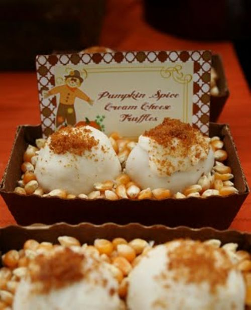 Pumpkin Orange Spice Cream Cheese Truffles