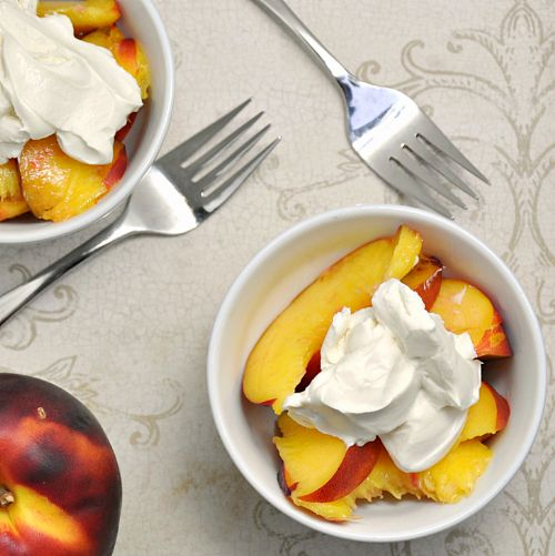 Nectarines with Vanilla Yogurt and Grand Marnier