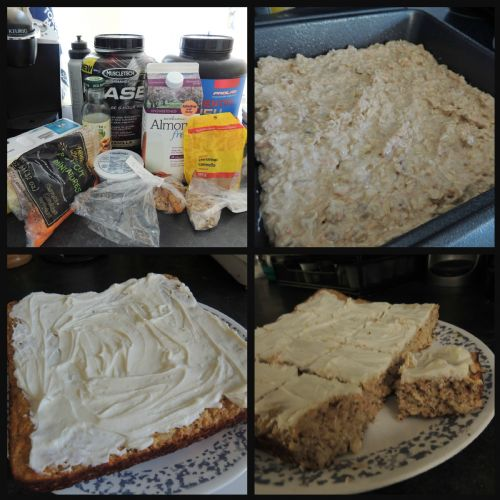 Protein Carrot Cake with Cream Cheese Icing