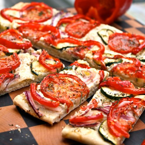 Roasted Veggie Flat Bread