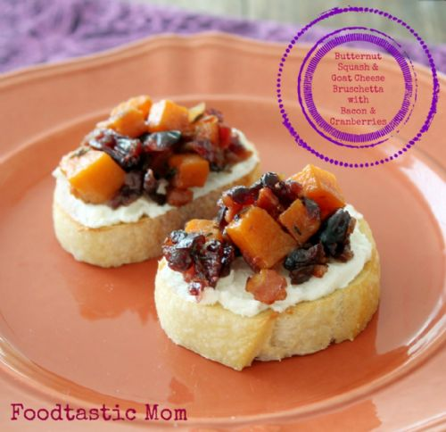Butternut Squash & Goat Cheese Bruschetta