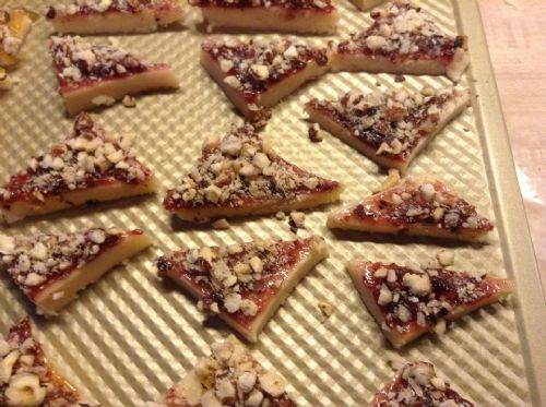 Raspberry Hazelnut Triangles