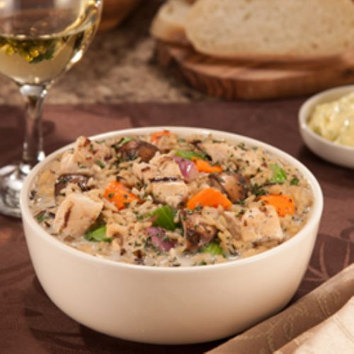 Grilled Chicken and Wild Rice Soup