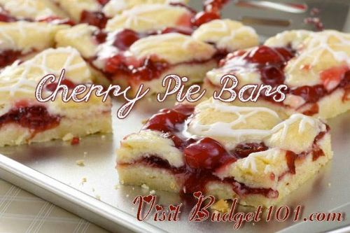 Valentines Cherry Pie Bars