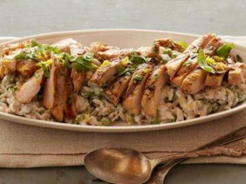 Lemon Orzo with Grill Chicken