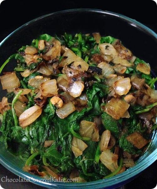 Sauteed Kale with Onions