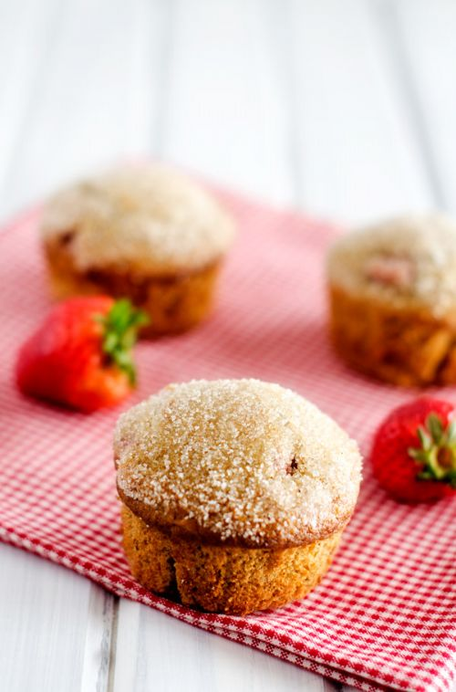 Strawberry Quinoa Muffins