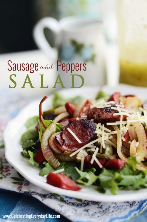 Sausage & Peppers Salad