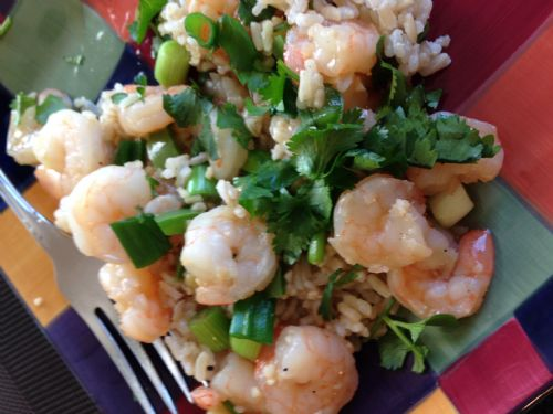 Shrimp- Stir-Fried with Garlic and Chile Sauce