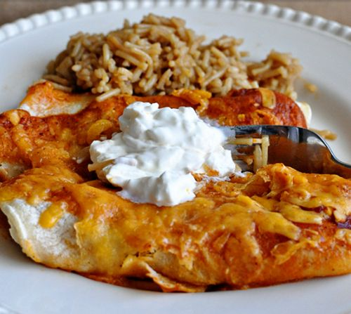 Red Beef Enchiladas