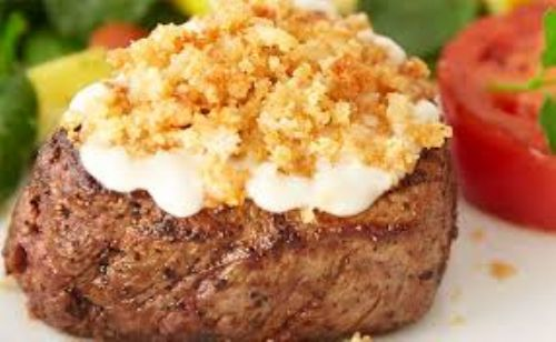 Garlic Parmesan Crusted Steak